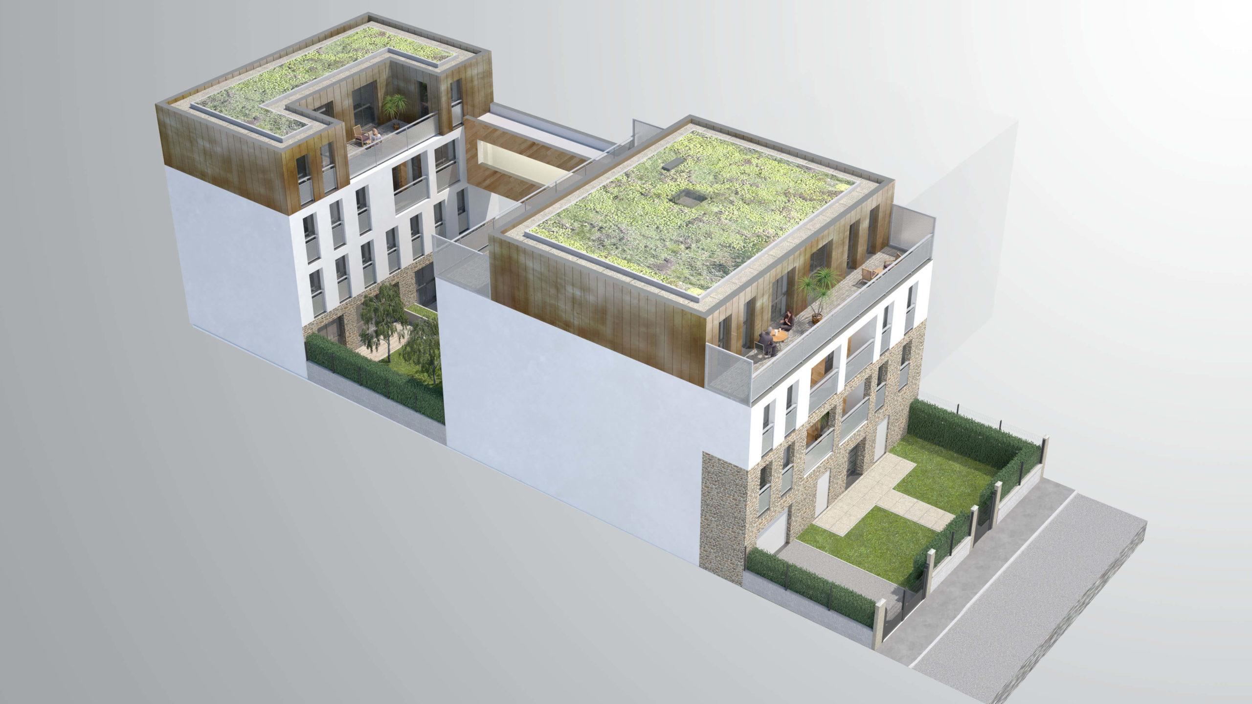 Perspective résidence Galliéni